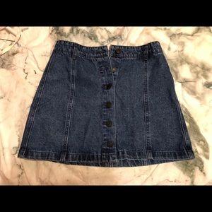 Brand NEW button up denim skirt from Forever 21